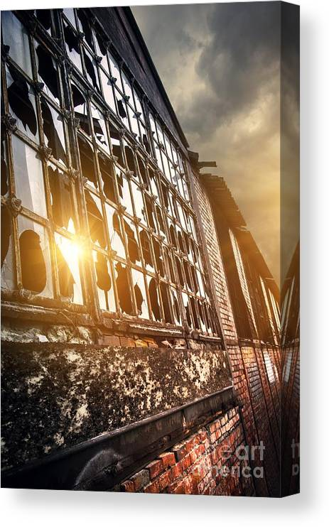 Abandoned Canvas Print featuring the photograph Broken Windows by Carlos Caetano