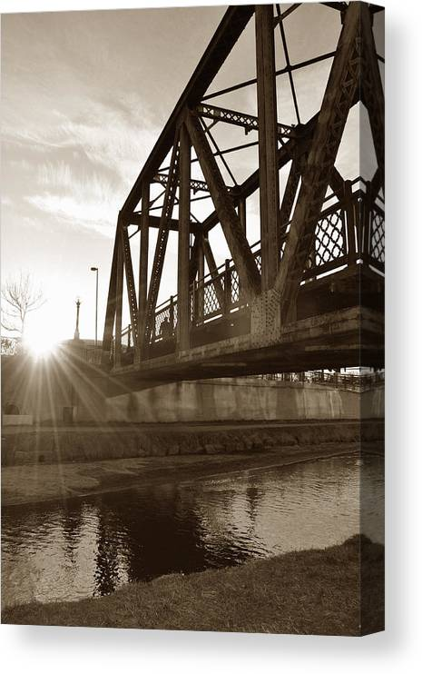 River Canvas Print featuring the photograph Cherry Creek Trestle by Todd Hartzo