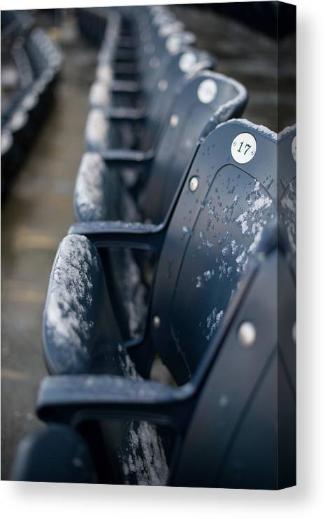 American League Baseball Canvas Print featuring the photograph Chicago Cubs V. New York Yankees by Rob Tringali