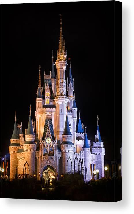 3scape Canvas Print featuring the photograph Cinderella's Castle in Magic Kingdom by Adam Romanowicz
