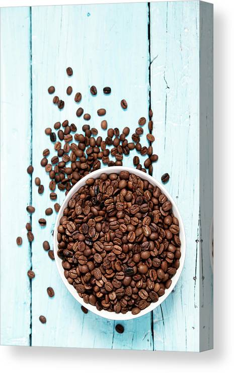 Heap Canvas Print featuring the photograph Coffee Beans by Barcin