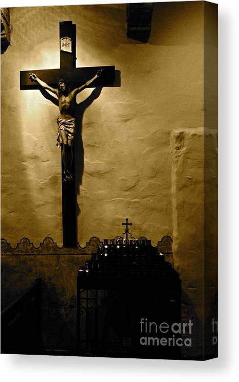 Christ Canvas Print featuring the photograph Crucifixion by Lori Leigh