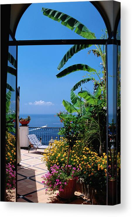 Tranquility Canvas Print featuring the photograph Doorway To Terrace At Hotel Punta by Dallas Stribley