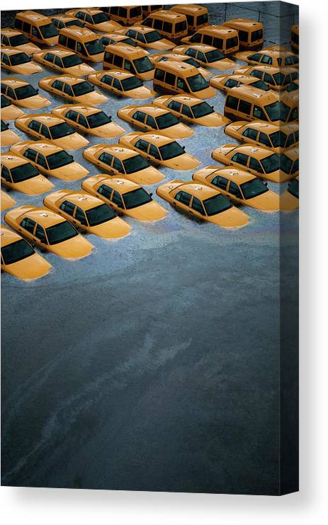 Legacycollection Canvas Print featuring the photograph East Coast Begins To Clean Up And by Michael Bocchieri