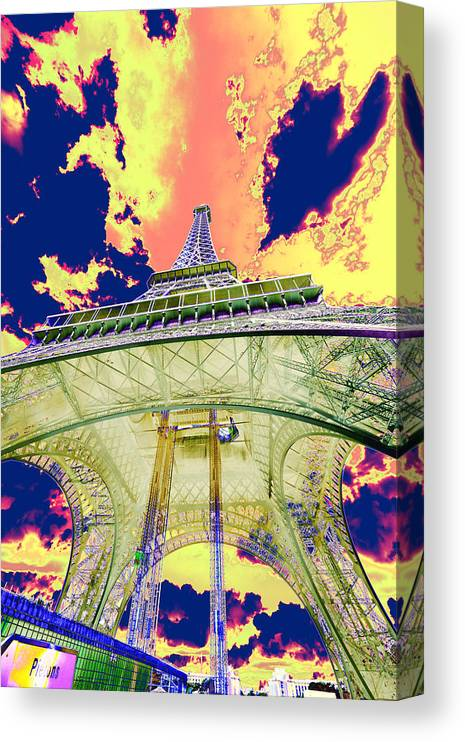 Cruise 2013 Canvas Print featuring the photograph Eiffel Tower Psycho Version by Richard Henne