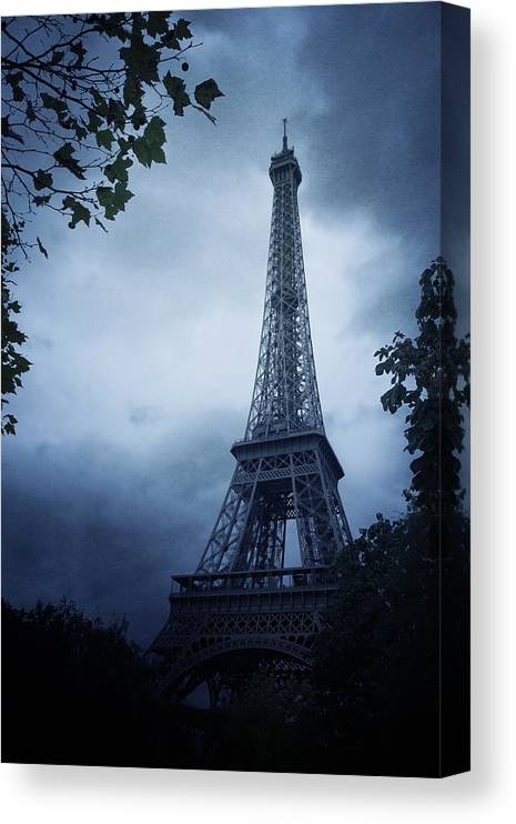 Paris Canvas Print featuring the photograph Eiffel Tower by Cambion Art