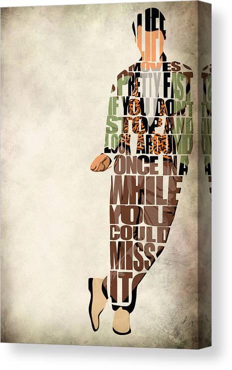 Ferris Bueller Canvas Print featuring the digital art Ferris Bueller's Day Off by Inspirowl Design
