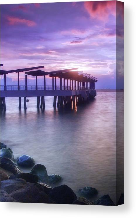 Scenics Canvas Print featuring the photograph Ferry Station by Melv Pulayan