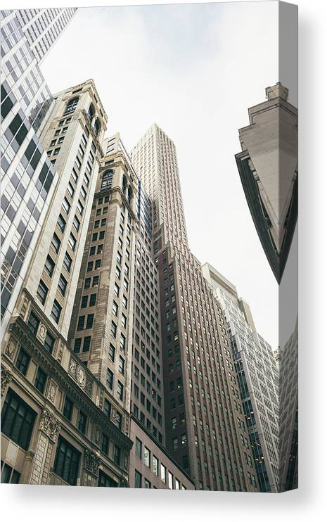 Tranquility Canvas Print featuring the photograph Financial District, New York City by Tuan Tran