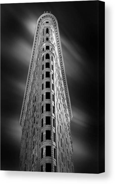 Flatiron Building Canvas Print featuring the photograph Flatiron Nights by Az Jackson