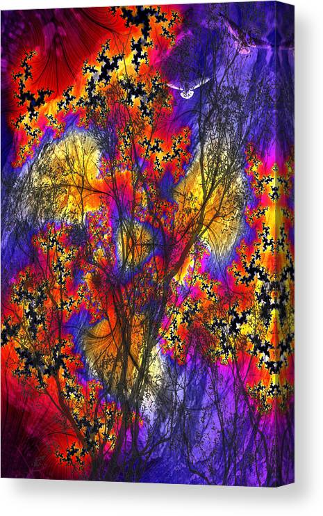 Forest Fire Canvas Print featuring the digital art Forest Fire by Lisa Yount