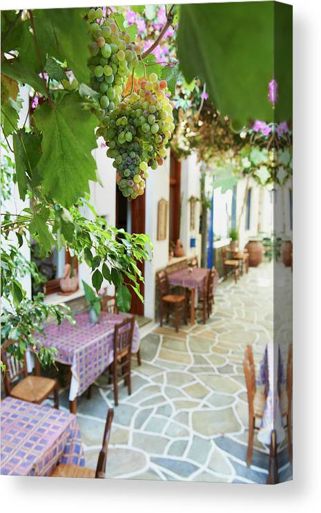 Tranquility Canvas Print featuring the photograph Greece, Cyclades Islands, Kythnos by Tuul & Bruno Morandi