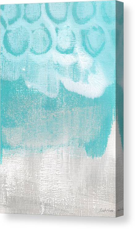 Abstract Canvas Print featuring the painting Like A Prayer- Abstract Painting by Linda Woods