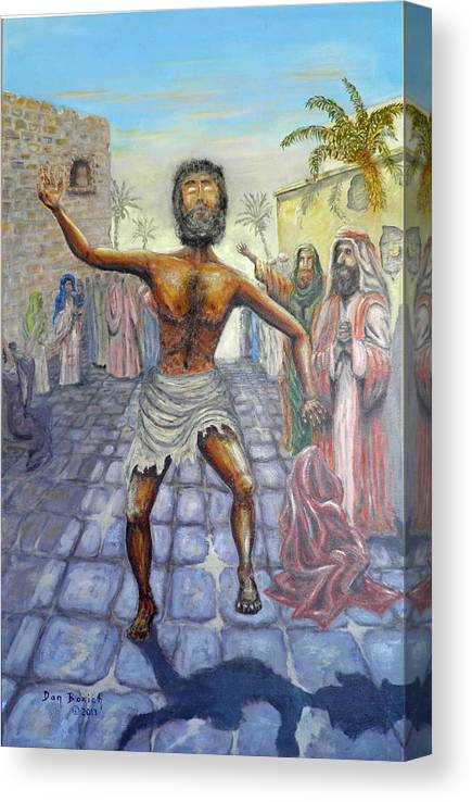 Biblical Canvas Print featuring the painting Lord I want to See by Dan Bozich