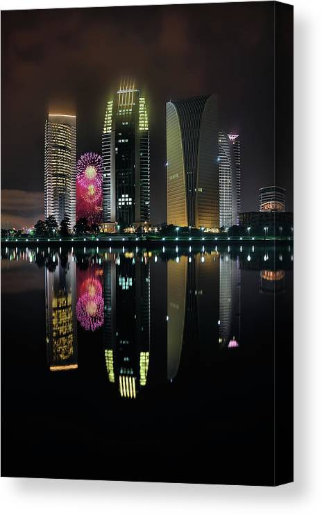 Tranquility Canvas Print featuring the photograph Malaysia 56th Independence Day by Photography By Azam Alwi
