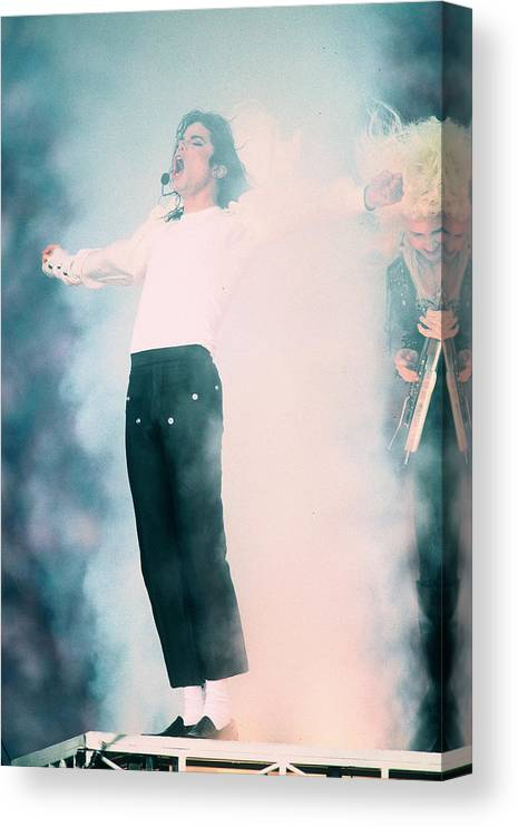 Retro Images Archive Canvas Print featuring the photograph Micheal Jackson Performing On Stage by Retro Images Archive