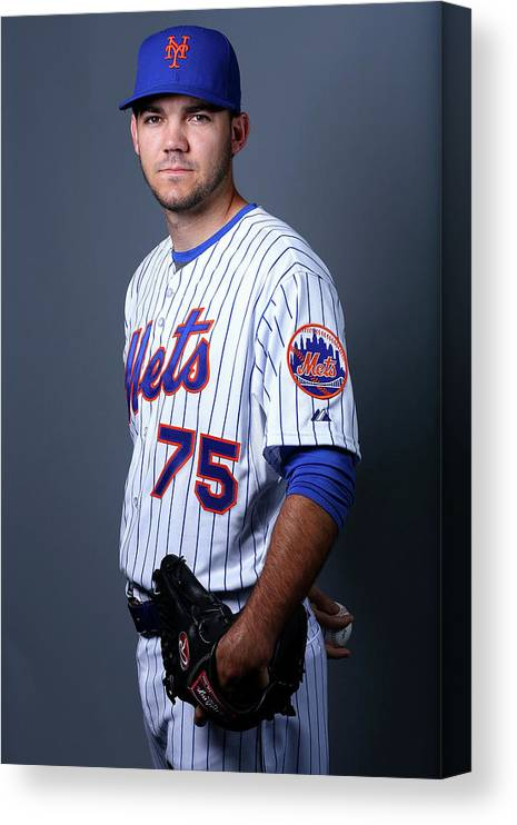 American League Baseball Canvas Print featuring the photograph New York Mets Photo Day by Elsa