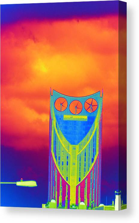 Psychedelic Canvas Print featuring the photograph Odd Clocks in Orange by Richard Henne