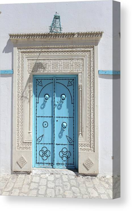 Molding A Shape Canvas Print featuring the photograph Old Blue Door by Iv-serg