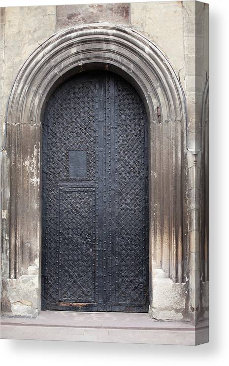 Gothic Style Canvas Print featuring the photograph Old Door by Viktor gladkov