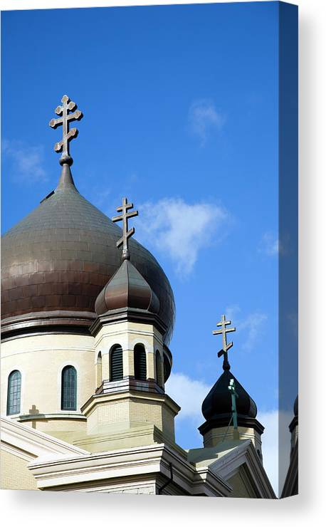 Outdoors Canvas Print featuring the photograph Orthodox Church by Snap Decision