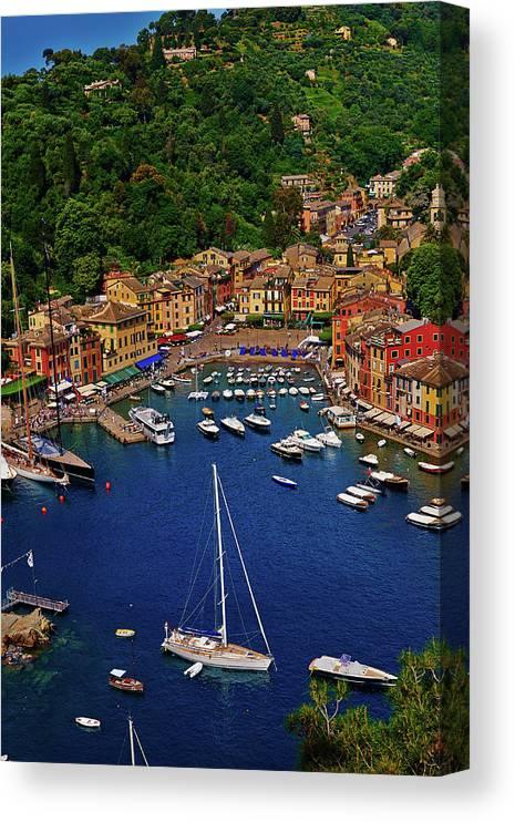 Treetop Canvas Print featuring the photograph Portofino by Roman Makhmutov