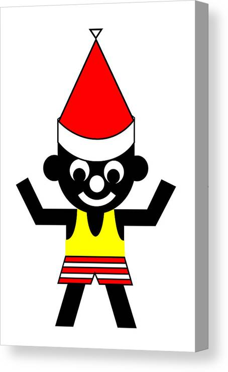 Sam Wishes You A Merry Christmas Canvas Print featuring the digital art Sam wishes you a Merry Christmas by Asbjorn Lonvig