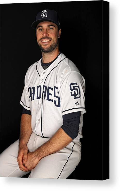 Media Day Canvas Print featuring the photograph San Diego Padres Photo Day by Patrick Smith