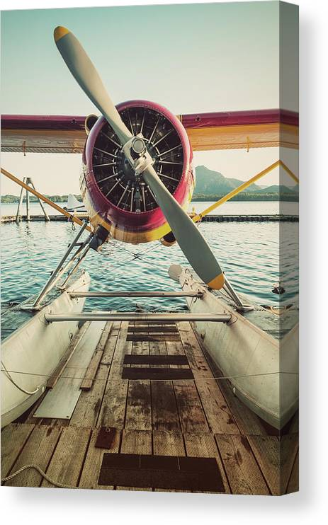 Propeller Canvas Print featuring the photograph Seaplane Dock by Shaunl