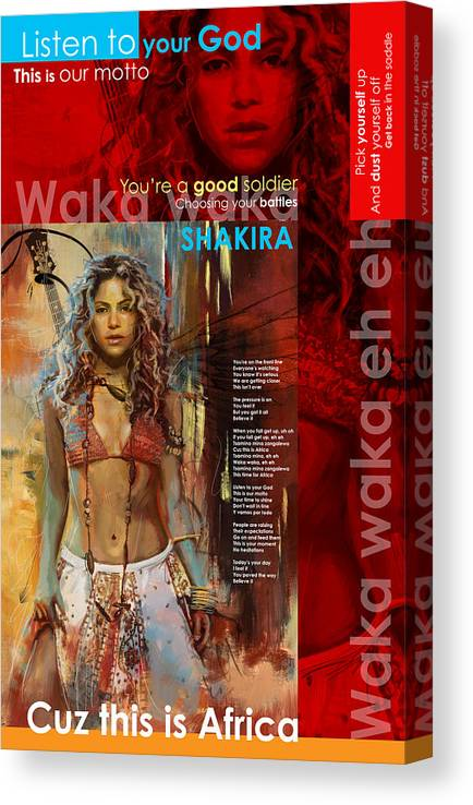 Shakira Art Poster Canvas Print Canvas Art By Corporate Art Task Force