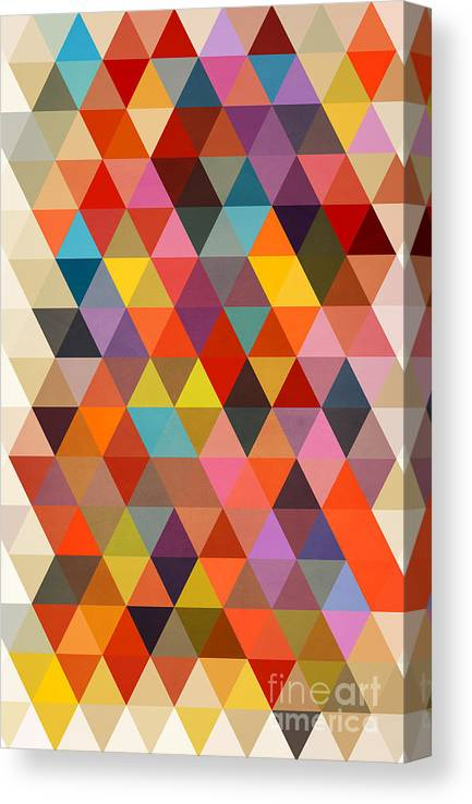 Contemporary Canvas Print featuring the painting Shapes by Mark Ashkenazi