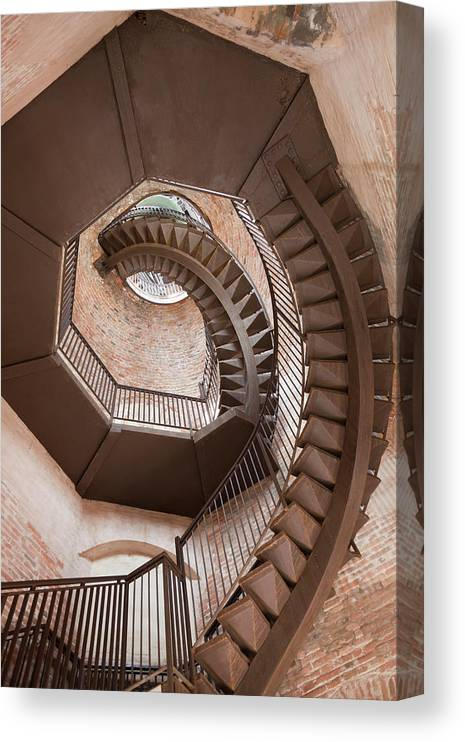 Tranquility Canvas Print featuring the photograph Spiral Staircase In Lamberti Tower by Buena Vista Images