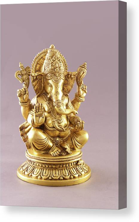 Spirituality Canvas Print featuring the photograph Statue Of Lord Ganesh by Visage