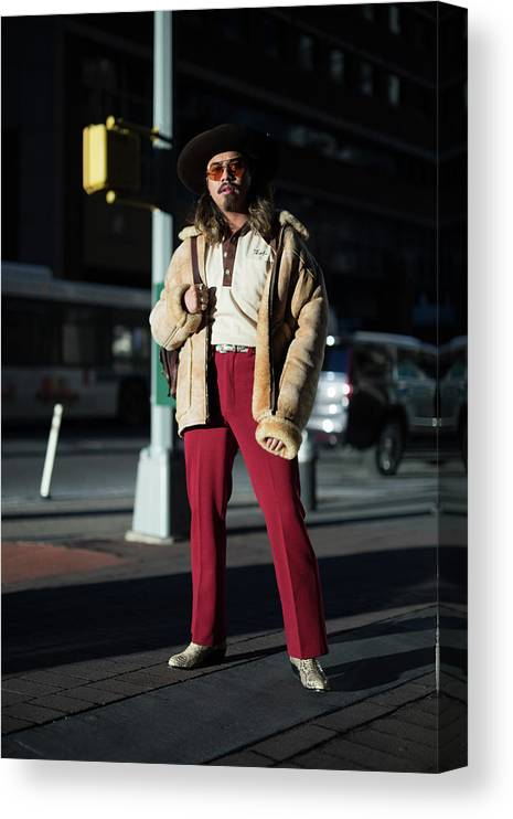 New York Fashion Week Canvas Print featuring the photograph Street Style - New York City - February by Matthew Sperzel