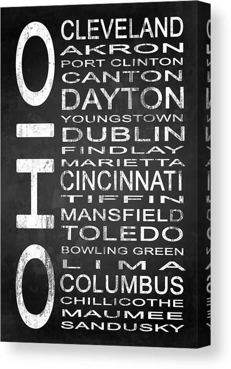 Subway Sign Canvas Print featuring the digital art Subway Ohio State 1 by Melissa Smith