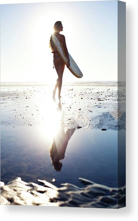 Youth Culture Canvas Print featuring the photograph Surfer Girl by Ianmcdonnell