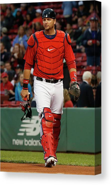 American League Baseball Canvas Print featuring the photograph Tampa Bay Rays V Boston Red Sox by Winslow Townson