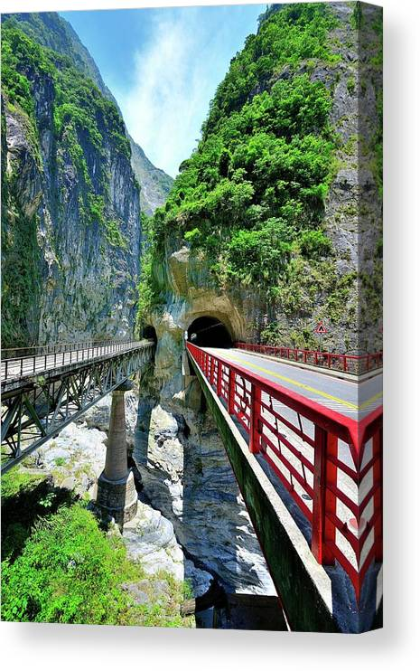 Built Structure Canvas Print featuring the photograph Taroko Gorge by Photography By Anthony Ko
