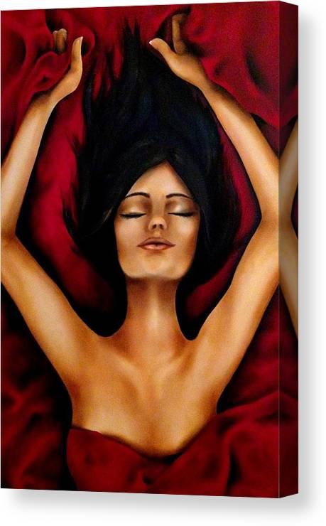 Oil Canvas Print featuring the painting The Rest by Stephanie LeVasseur