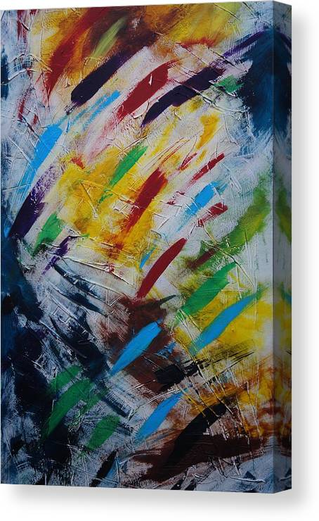 Abstract Canvas Print featuring the painting Time stands still by Sergey Bezhinets