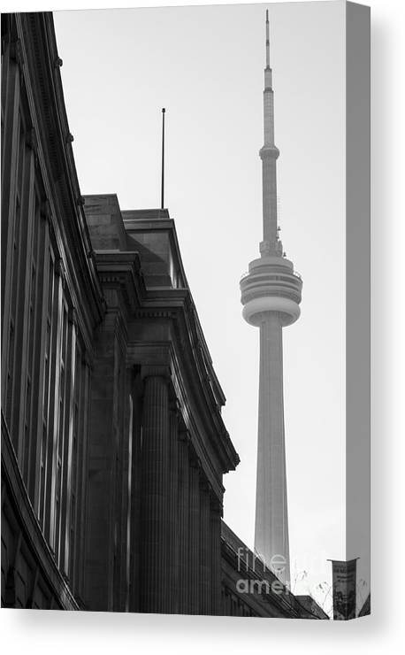 Toronto Canvas Print featuring the photograph Toronto CN Tower by Matt Trimble