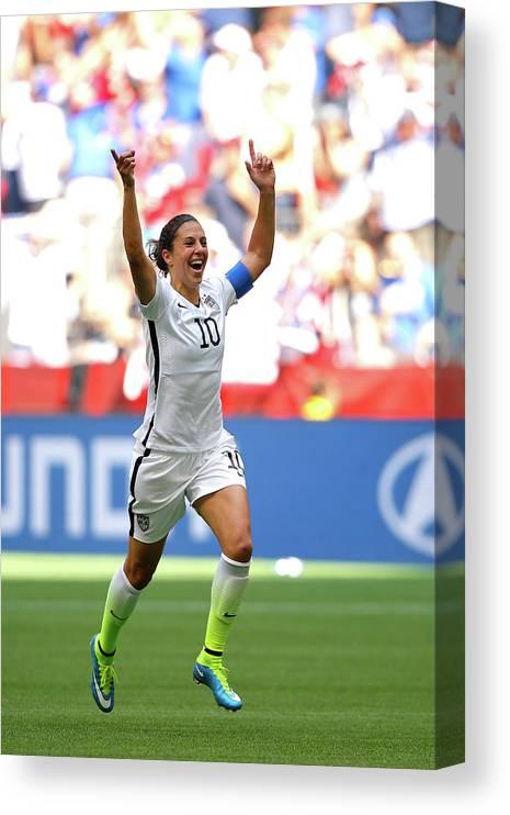 Carli Lloyd Canvas Print featuring the photograph Usa V Japan Final - Fifa Womens World by Kevin C. Cox