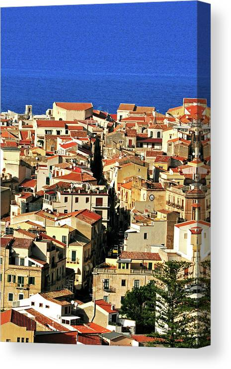 Tyrrhenian Sea Canvas Print featuring the photograph Veins Of Cefalu by Image Brought To You Through The Eye Of Andrew Parker