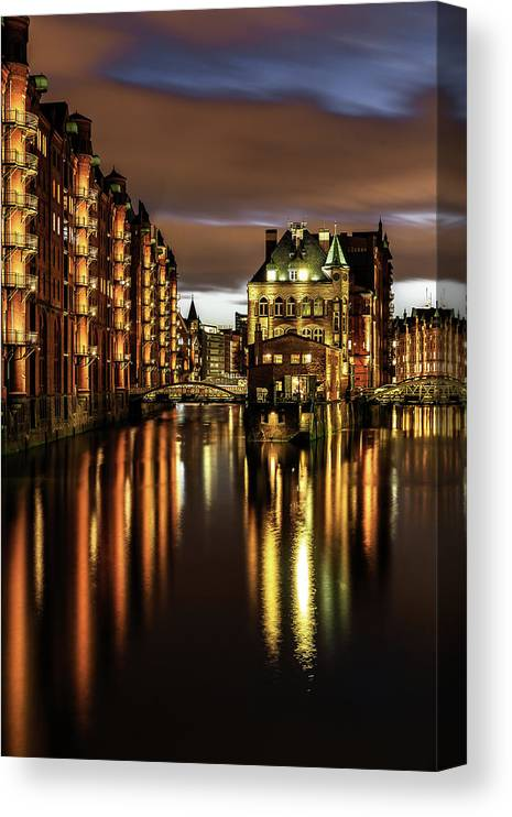 Trading Canvas Print featuring the photograph Warehouse District by Achim Thomae