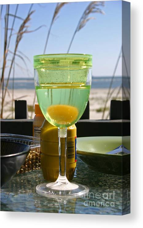 Beach Canvas Print featuring the photograph Lunch on the Porch by Beebe Barksdale-Bruner