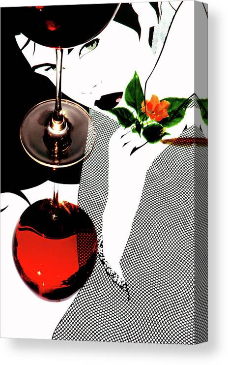Abstract Canvas Print featuring the photograph Abstract Reflections by John Banegas
