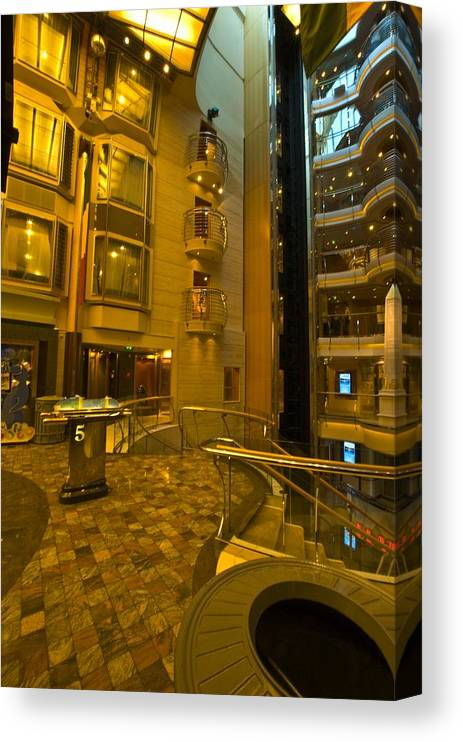 Liberty Of The Seas Canvas Print featuring the photograph Big Ship Cityscape by Richard Henne