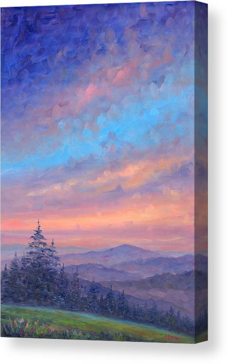 Sunset Canvas Print featuring the painting Parkway Glow II by Jeff Pittman