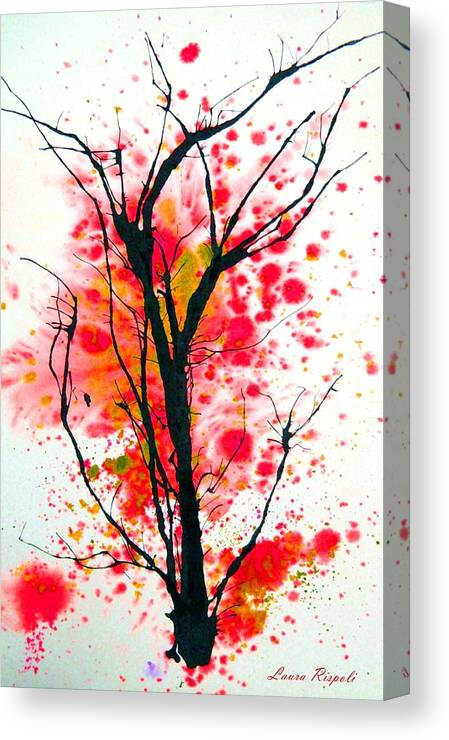 Tree Canvas Print featuring the painting Tree by Laura Rispoli