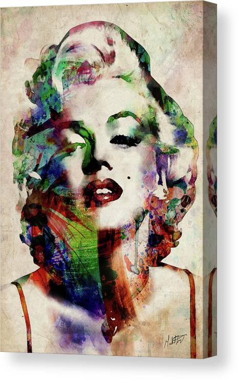 Marilyn Canvas Print featuring the digital art Marilyn by Michael Tompsett